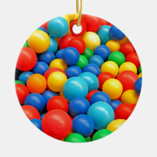 Ball Pit Balls Ceramic Ornament