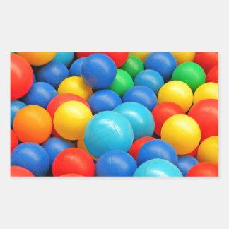 Ball Pit Balls Rectangular Sticker