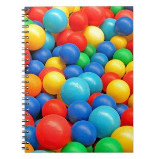 Ball Pit Balls Spiral Notebook