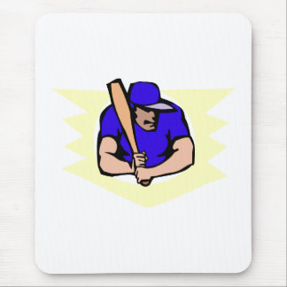 Ball Player Batter Mouse Pad