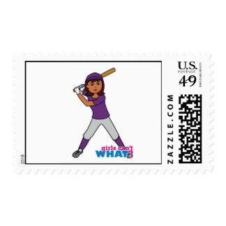 Ball Player - Dark Postage Stamps