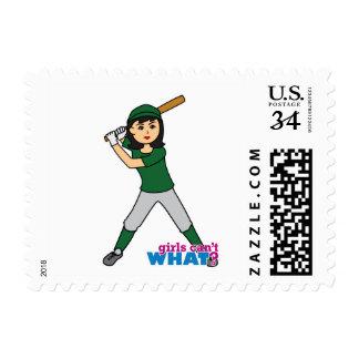 Ball Player - Medium Postage Stamp