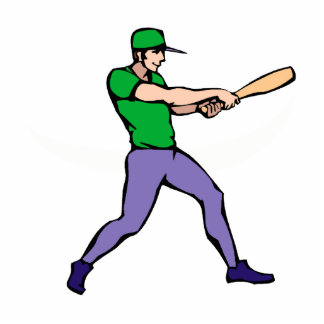 Ball Player Swinging Cutout