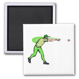 ball player throws ball magnet