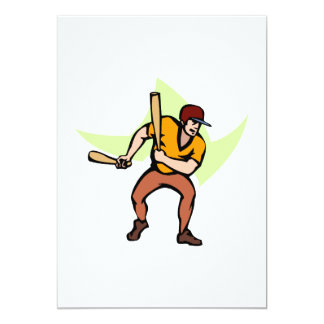 Ball Player with 2 bats Card