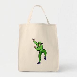 Ball player with ball tote bag