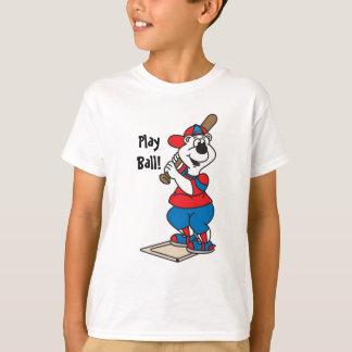 Ball Playing Cartoon Bear T-Shirt