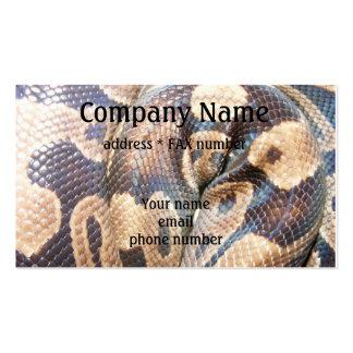 Ball Python Business Card