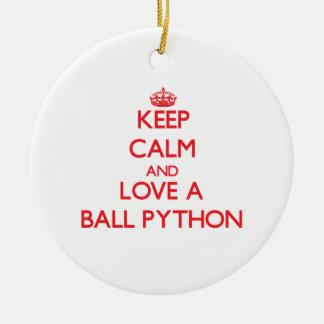 Ball Python Christmas Ornament