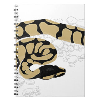 Ball Python Snake Spiral Note Books