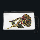 "Ball Python Snake Purse Dangerous Beauty<br><div class=""desc"">A Ball Python Snake curled around a red and gold Rose Purse for women.</div>"