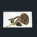 """Ball Python Snake Purse Dangerous Beauty<br><div class=""""desc"""">A Ball Python Snake curled around a red and gold Rose Purse for women.</div>"""