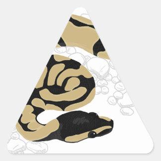 Ball Python Snake Triangle Sticker