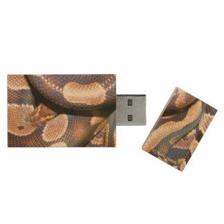 Ball Pythons 2 Wood USB Flash Drive