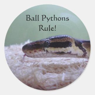 Ball Pythons Rule! Classic Round Sticker