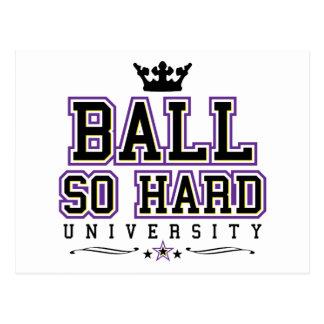 Ball So Hard - Purple & Yellow Ravens Postcard