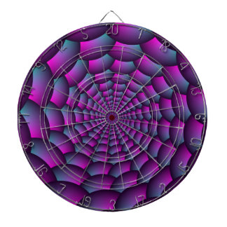 Ball Spiral in Pink Blue and Purple Dartboard