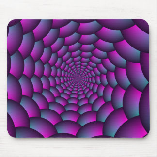 Ball Spiral in Pink Blue and Purple Mouse Pad