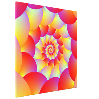 Ball Spiral in Red Yellow and Orange Canvas Print