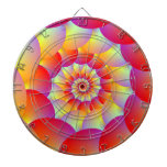 Ball Spiral in Red Yellow and Orange Dart Boards