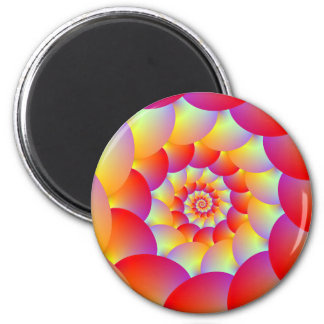Ball Spiral in Red Yellow and Orange Magnet