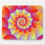 Ball Spiral in Red Yellow and Orange Mouse Pad