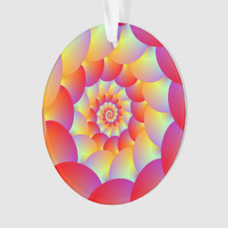 Ball Spiral in Red Yellow and Orange Ornament