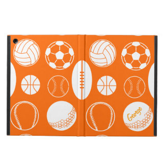 Ball sports all star orange name iPad air case