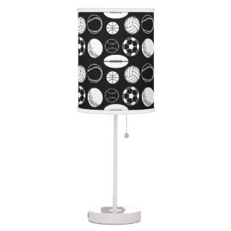 Ball sports sport black table lamp