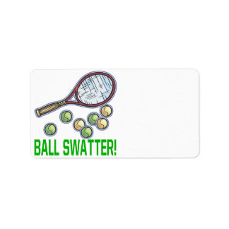 Ball Swatter Label
