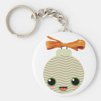 ball tree kawaii basic round button keychain