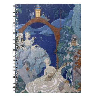 Ball Under the Blue Moon, illustration for 'Fetes Spiral Notebook