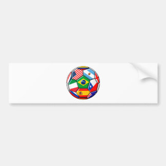 ball with flags bumper sticker