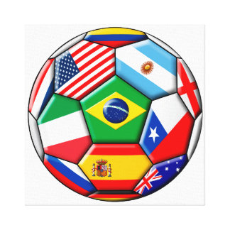 ball with flags canvas print