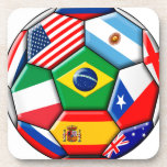 ball with flags drink coaster