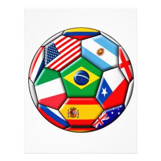 ball with flags letterhead