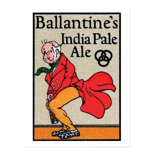 Ballantine India Pale Ale Postcard