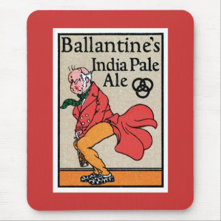 Ballantine's India Pale Ale Vintage Label Mouse Pad