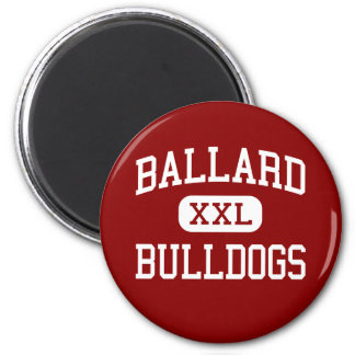 Ballard - Bulldogs - High School - Butler Missouri 2 Inch Round Magnet