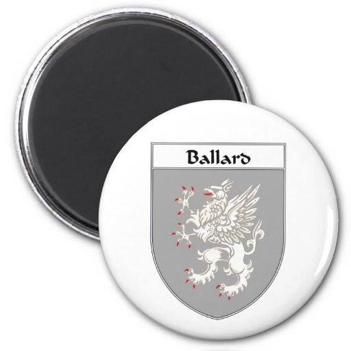 Ballard Coat of Arms/Family Crest Fridge Magnets