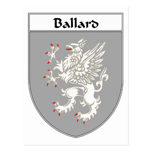 Ballard Coat of Arms/Family Crest Postcard