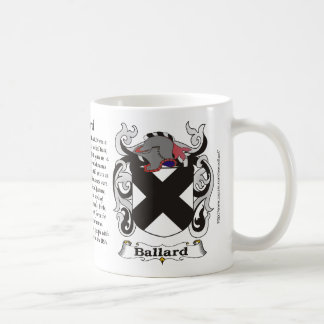Ballard Family Coat of Arms Mug