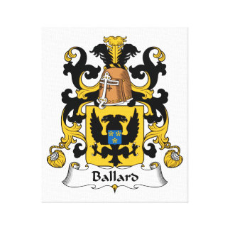 Ballard Family Crest Canvas Print