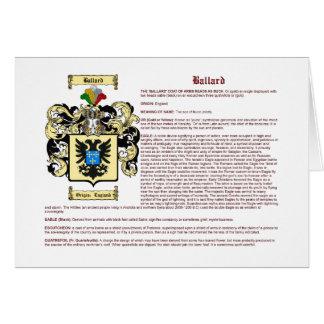 Ballard (meaning) card