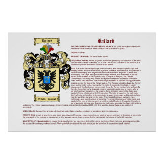 ballard definition english name meaning posters zazzle 10072
