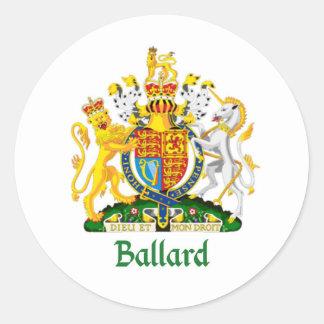 Ballard Shield of Great Britain Classic Round Sticker