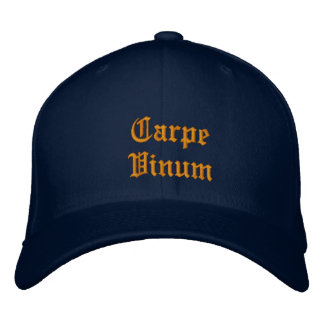 Ballcap de Carpe Vinum (agarre el vino) Gorros Bordados