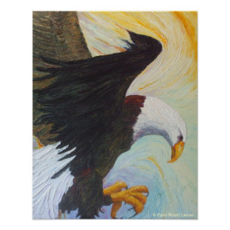 Balld Eagle - una impresión mate del tesoro americ