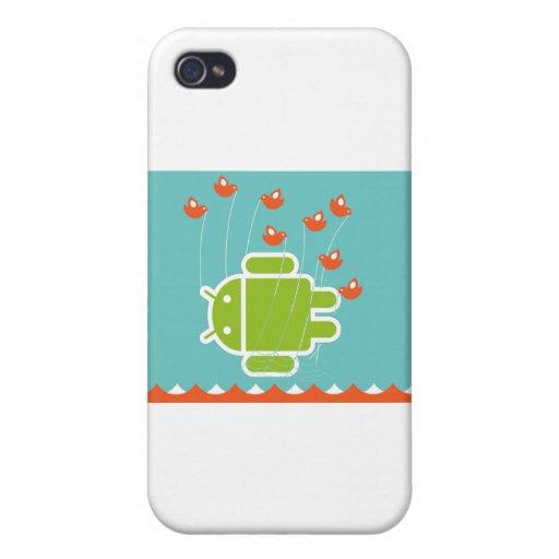 Ballena androide del fall iPhone 4 funda