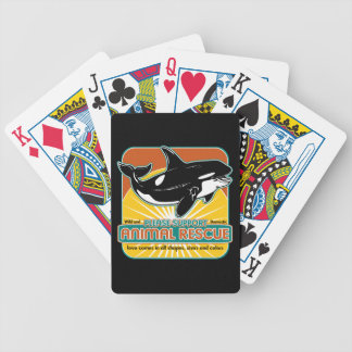 Ballena animal del rescate barajas de cartas